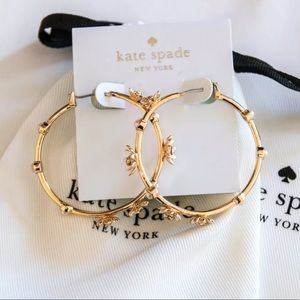 Kate Spade NWT Love Me Loves Me Not Hoop Earrings